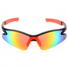 9184 8491 Fashion UV400 Protection Resin Lens Sunglasses - Black + Red
