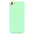 Stylish Brick Wall Style Protective TPU Back Case for Iphone 5 - Green