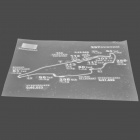Racing Track Pattern DIY Car Rear Windshield Sticker - Silver (Montreal)