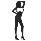 Creative Sexy Women Shaped Iron Bottle Opener - Black
