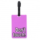Don't Touch Style Travel Suitcase Luggage ID Tag - Purple