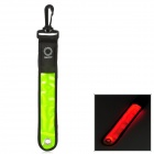 Bicycle Cycling Safety Warning 2-Mode Red Light LED Strip w/ Buckle - Yellow + Black (1 x CR2032)