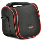 Protective MILC Zipper Nylon Bag w/ Shoulder Strap for Sony NEX-7N / NE-5N / NEX-F3 - Black + Red
