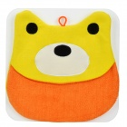 Cute Cartoon Microfiber Hair Drying Towel Hat / Cap for Children - Yellow + Orange