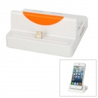 3-in-1 8-Pin Lightning Charging Station + USB HUB + SD/TF Card Reader for iPhone 5 / iPad 4 - White