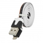 USB to 8-Pin Lightning Data / Charging Flat Cable for iPhone 5 / iPod Touch 5 / iPad 4/Mini - Orange