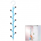 WL040 Candy Tree Style 5-Section Rotary Multi-hook Clothes Hanger Rack - Blue + Brown