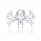 Skull Style Alloy DIY Car Sticker w/ Self-Adhesive Tap - Silver