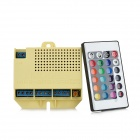 Music Controller w/ 24-Key Remote Control for RGB Light Strip - Yellow + Blue