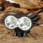 FandyFire X2 1200lm 4-Mode White Bicycle Light w/ 2 x Cree XM-L U2 - Black (4 x 18650)