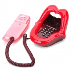 CZ-002 Novelty Cartoon Mouth Style Wired Telephone - Red + White + Maroon