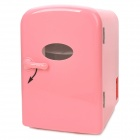 45W Car Powered Drink Cooling Fridge / Heater - Pink (AC 220V / DC 12V / 4L)