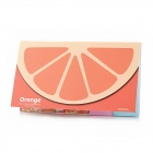 K590-1 Cute Fruit Pattern Memo Pad Note Paper - Orange + Beige (108-Sheet)