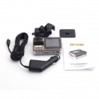 "LSON DP500 Wide Angle 120 Degrees Car DVR Web Camera w/ AV OUT - Champagne (2.0"" TFT)"