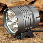 UltraFire XL-3A19 5 x Cree XM-L T6 1200lm 3-Mode White Bicycle Light Headlamp - Grey (8 x 18650)