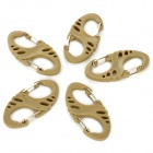 YJ-1 Multifunctional Hollow-out S-Shape Plastic Buckles Clasps - Coyote Tan (5 PCS)