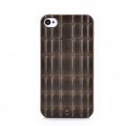 Bamboo Joint Pattern Protective Plastic Case for Iphone 4S - Coffee