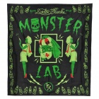 Monster LAB Polyester Projection Shower Curtain - Black + Green + Red