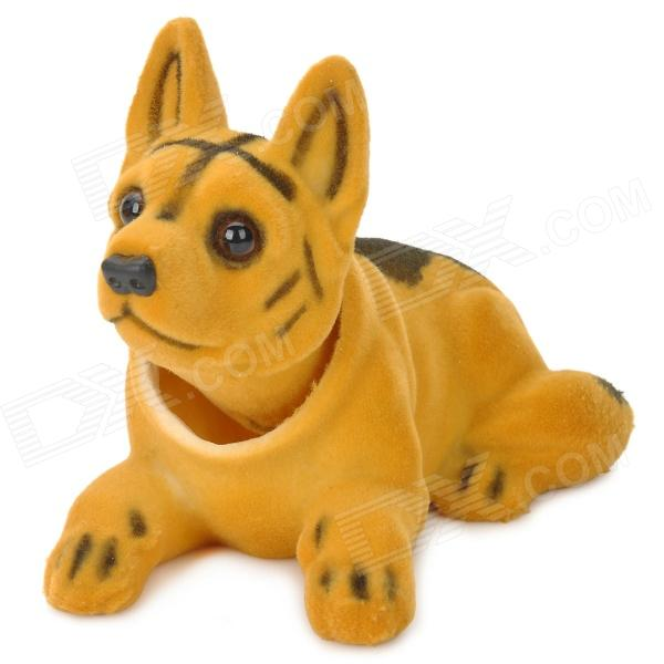 LT3364 Cute Shaking Head Shepherd Dog Toy Car Decoration - Yellow + Black shepherd s life угги shepherd s life slw fox24 sand nordic short песочный