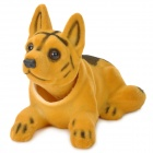 LT3364 Cute Shaking Head Shepherd Dog Toy Car Decoration - Yellow + Black