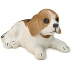 LT3365 Cute Shaking Head Beagle Toy Car Decoration - White + Brown + Black