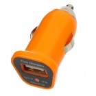 FIN-20 DC 5V 1.5A USB Car Charger for Iphone 4 / 4S / 5 / Samsung i9500 + More - Orange (DC 12~24V)