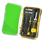 RT-1665 65-in-1 Alloy Steel Screwdriver Tool Kit for Car Maintenance - Silver + Black + Yellow