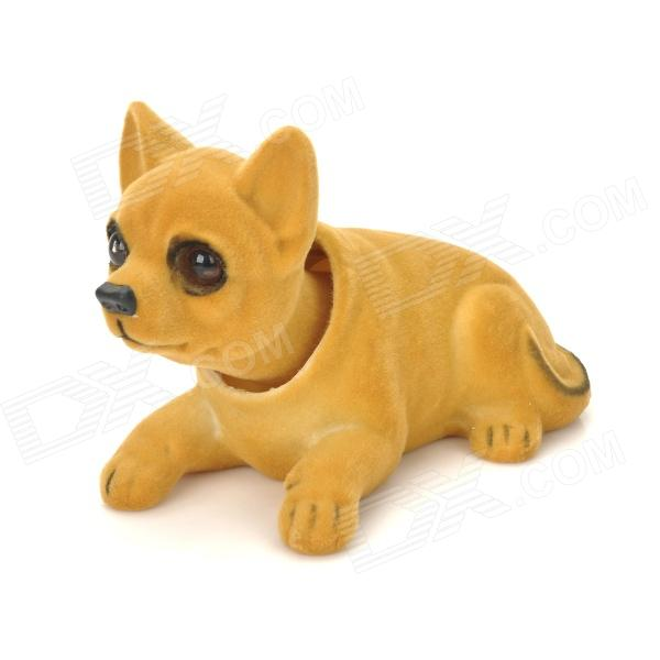 LT3363 Chihuahua Style Car Decoration Display Shaking Dog Toy - Light Brown color fest chihuahua