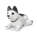 Husky Style Car Decoration Display Shaking Dog Toy - White + Black