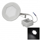W-HYH178 Hexagon 6W 300lm 6500K COB LED White Light Ceiling Lamp - White + Black (85~265V)