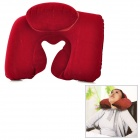 JQ-007 U Style Inflatable Air Neck Pillow Cushion - Red