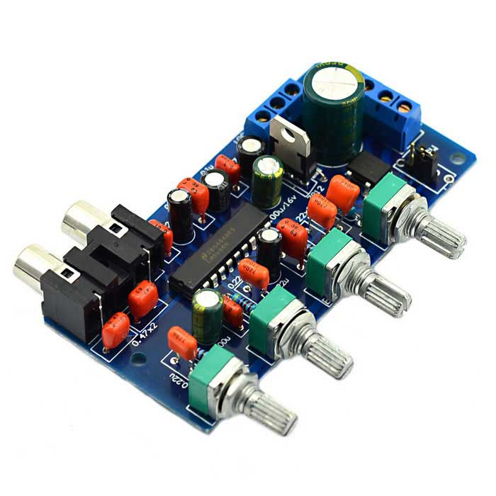 DC 12V LM1036n LM1036 Volume Control Board Kit for DIY original audio note 100k double left and right channels intermediate balance potentiometer