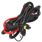 DIY H3 HID Car Headlamp Bulb Cables w/ Relay - Black + Red