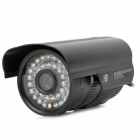 "HRT-1097 Water Resistant 1.3MP 1/3"" Color CCD Surveillance Camera w/ 36-IR LED - Black (PAL)"