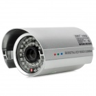 "HRT-1092 Water Resistant 1.3MP 1/3"" Color CCD Surveillance Camera w/ 36-IR LED - Silver (PAL)"