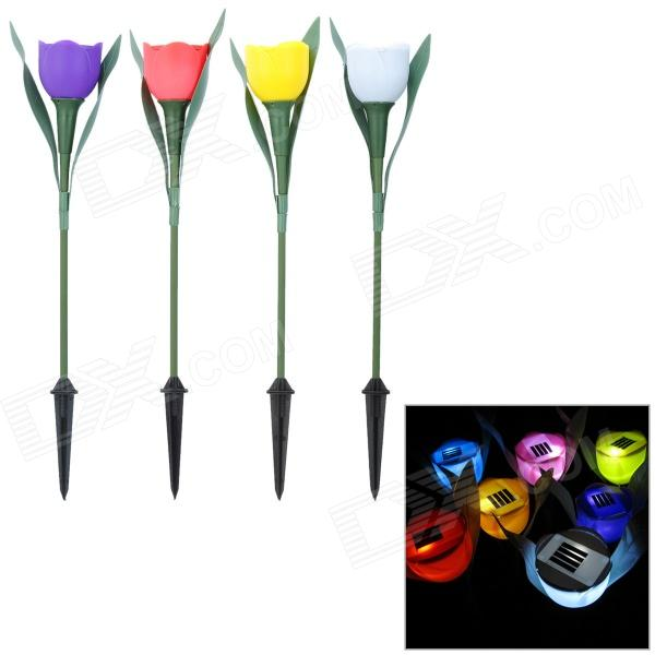 11030027 1W 13lm 5500~6500K 400~450 / 560~590 / 635~700nm 1-LED Solar Lamp - Multicolored (4 PCS)