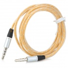 3.5mm Male to Male Audio Cable for MP3 / MP4 / Iphone / Speaker + More - Yellow (120CM)
