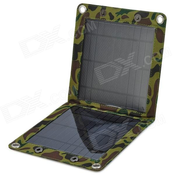 W-01 6W Portable Monocrystalline Silicon Solar Power Battery / Cell Charger for Cellphone + More