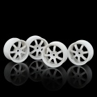 1:10 RC Car On Road 7-Spoke Plastic Wheel Hub - White (4 PCS)