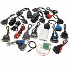 CAN OBD2 V4.01 Auto Car Diagnostic Airbag Scan Interface Tool Kit - Black + Silver + Red (DC 12V)