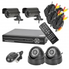 VSDK-5004LHA 4-CH D1 Real-Time Network CCTV DVR Security System - Black (PAL)