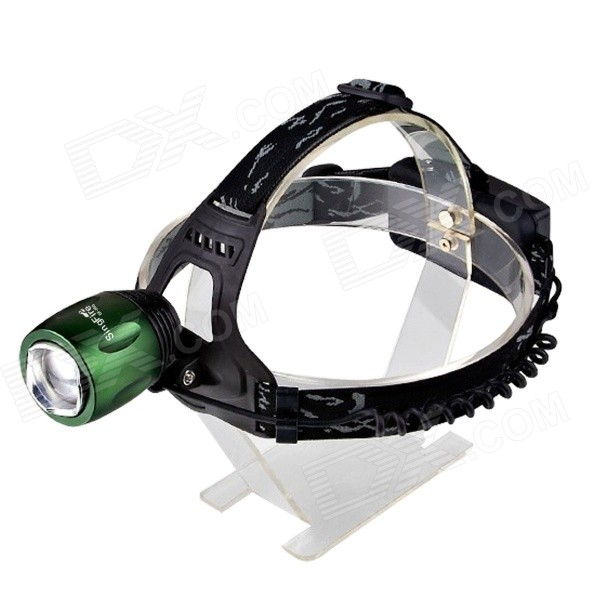 SingFire SF-550 800lm 3-Mode Zooming Headlamp - Black + Dark Green (2 x 18650r)