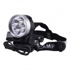 SingFire SF-548 1524lm 5-Mode White Bicycle Light w/ 4-Cree XM-L T6 - Black + Silver (4 x 18650)
