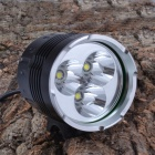 Buy SingFire SF-546 2600lm 4-Mode White Bike Light Cree XM-L T6 - Black + Silver (4 x 18650)