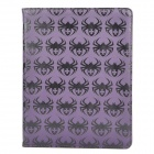 Spider Style Protective Rotation PU Leather Case for Ipad 2 / The New Ipad - Purple
