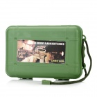 ZY-1312 Crush Resistance Shockproof PP Holder Case Box w/ Strap - Army Green (M-Size)