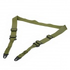Military Tactical Adjustable Stainless Steel + Oxford Fabric Gun Belt - Olive-drab