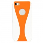 Stylish Protective PVC Back Case for Iphone 5 - White + Orange