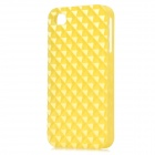 Square Style Protective Plastic Back Case for Iphone 4 / Iphone 4S - Yellow