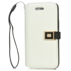 Stylish Protective PU Leather Case for Iphone 5 - White